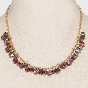 Jewelry - Faceted Square Cube Beaded Necklace